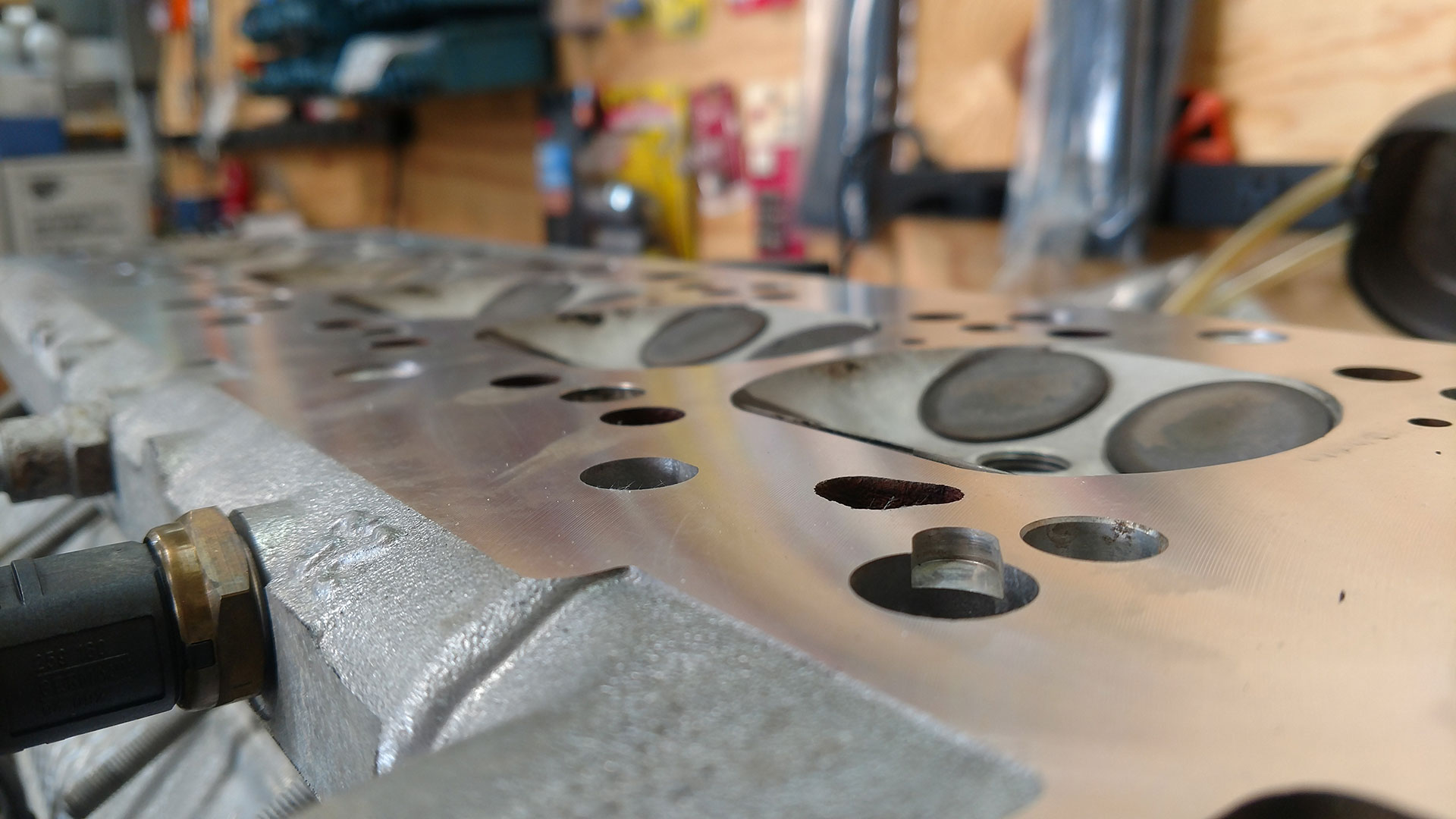 This is the kind of surface you want to be using with your new gasket.
